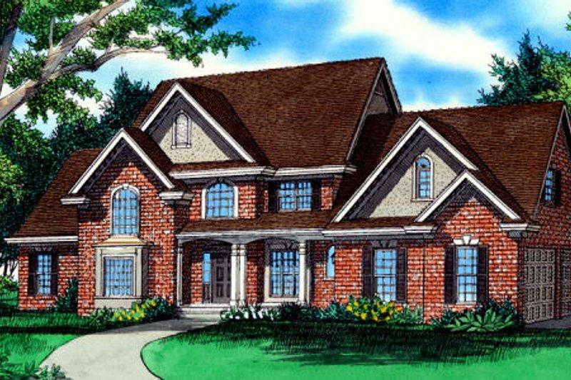 Dream House Plan - European Exterior - Front Elevation Plan #405-215