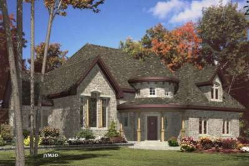 European Style House Plan - 2 Beds 2 Baths 1980 Sq/Ft Plan #138-145 Exterior - Front Elevation