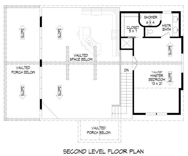 Country Floor Plan - Upper Floor Plan #932-334