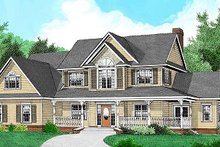 Home Plan - Country Exterior - Front Elevation Plan #11-225