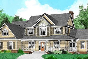 House Design - Country Exterior - Front Elevation Plan #11-225