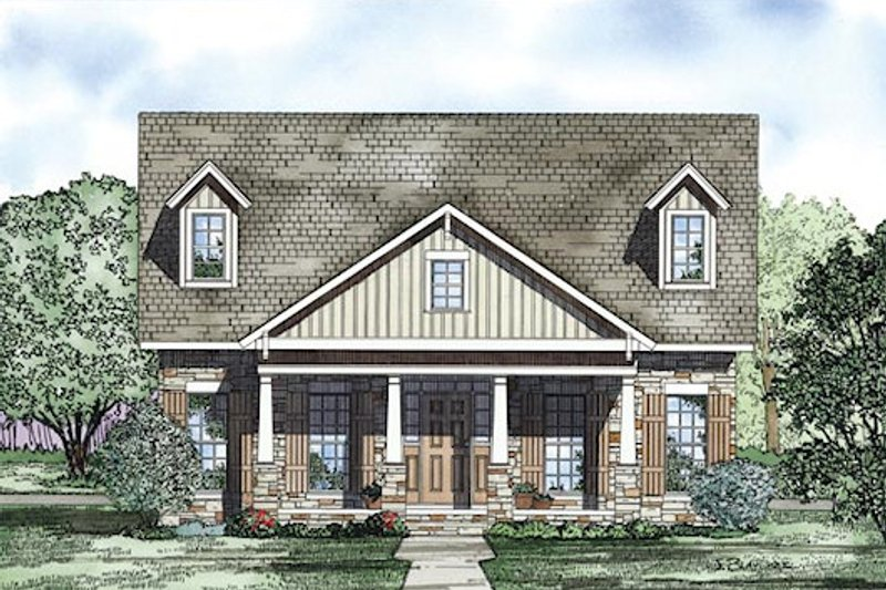 Traditional Exterior - Other Elevation Plan #17-2422 - Houseplans.com