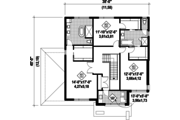 Contemporary Style House Plan - 3 Beds 2.5 Baths 2575 Sq/Ft Plan #25-4481 Floor Plan - Upper Floor Plan