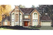 Dream House Plan - Colonial Exterior - Front Elevation Plan #3-201