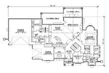 European Floor Plan - Main Floor Plan Plan #5-459