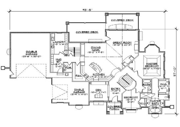 European Floor Plan - Main Floor Plan Plan #5-459