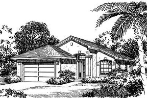 Mediterranean Exterior - Front Elevation Plan #417-105