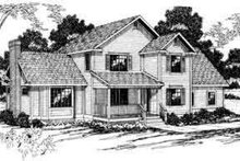 Home Plan - Traditional Exterior - Front Elevation Plan #124-180