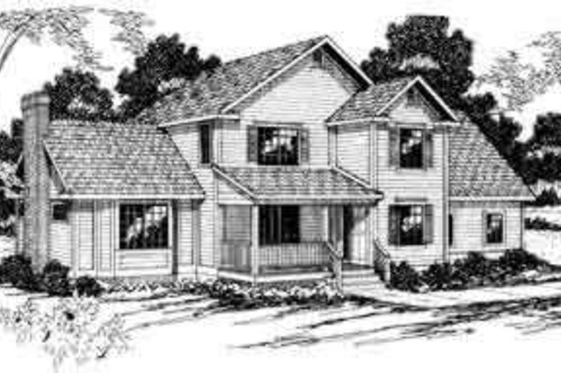 Dream House Plan - Traditional Exterior - Front Elevation Plan #124-180