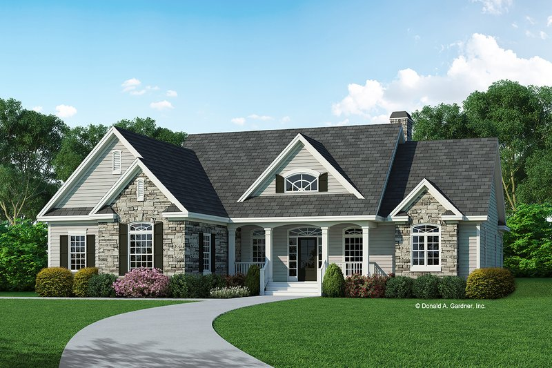 Country Exterior - Front Elevation Plan #929-689