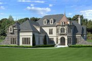 European Style House Plan - 4 Beds 4 Baths 3376 Sq/Ft Plan #119-358 Exterior - Front Elevation