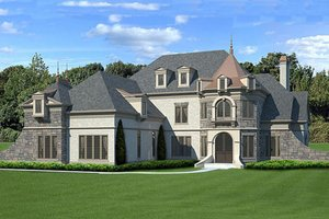 European Exterior - Front Elevation Plan #119-358 - Houseplans.com