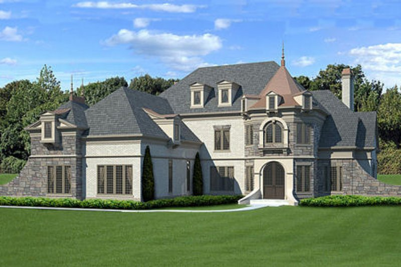 Architectural House Design - European Exterior - Front Elevation Plan #119-358