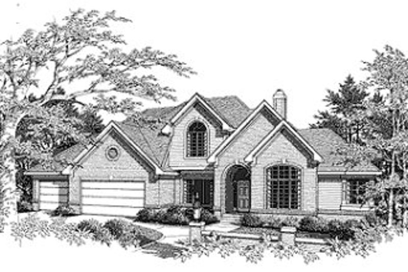 Dream House Plan - Traditional Exterior - Front Elevation Plan #70-431