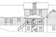 Country Style House Plan - 3 Beds 3.5 Baths 2759 Sq/Ft Plan #10-255 Exterior - Rear Elevation