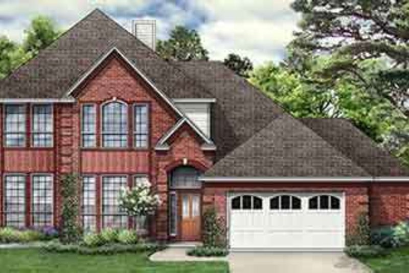 Dream House Plan - Traditional Exterior - Front Elevation Plan #84-182