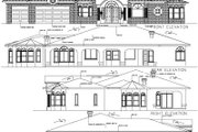 House Plan - 4 Beds 3 Baths 3043 Sq/Ft Plan #1-756 Exterior - Rear Elevation