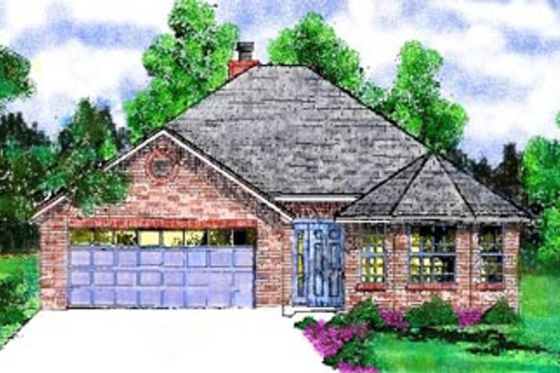 Traditional Exterior - Front Elevation Plan #52-107 - Houseplans.com