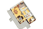Country Style House Plan - 4 Beds 1 Baths 1211 Sq/Ft Plan #25-4526 Floor Plan - Main Floor