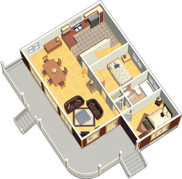 Country Floor Plan - Main Floor Plan #25-4526