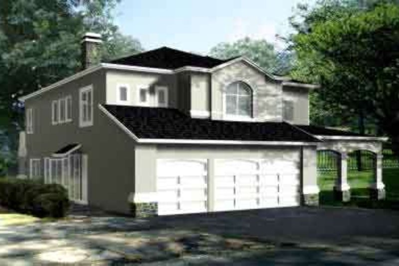 Traditional Style House Plan - 5 Beds 4 Baths 3124 Sq/Ft Plan #1-779 Exterior - Front Elevation