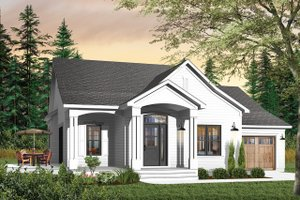 Home Plan Design - Country Exterior - Front Elevation Plan #23-560