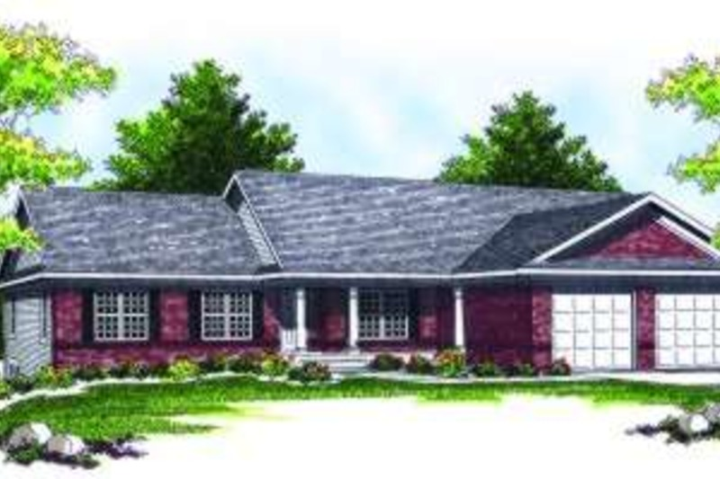 Ranch Exterior - Front Elevation Plan #70-790 - Houseplans.com