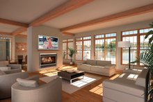 Architectural House Design - Great Room - 9000 square foot Beach home