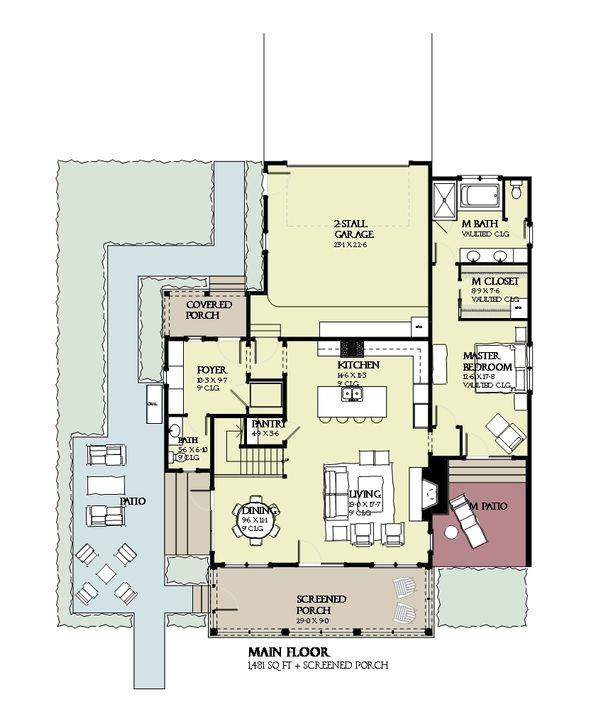 Beach Floor Plan - Main Floor Plan Plan #901-124