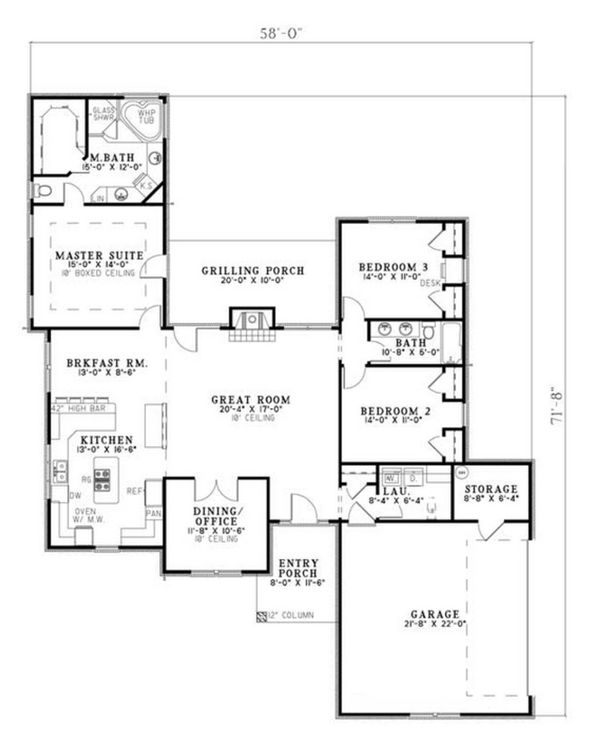 Traditional Floor Plan - Main Floor Plan #17-2515