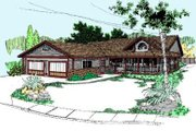 Ranch Style House Plan - 3 Beds 2 Baths 1775 Sq/Ft Plan #60-347 Exterior - Front Elevation