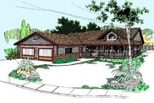 Ranch Exterior - Front Elevation Plan #60-347
