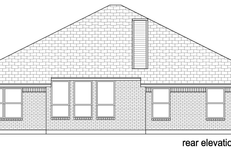 Traditional Exterior - Other Elevation Plan #84-578 - Houseplans.com