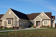 Traditional Style House Plan - 4 Beds 4.5 Baths 3788 Sq/Ft Plan #51-491 Exterior - Front Elevation