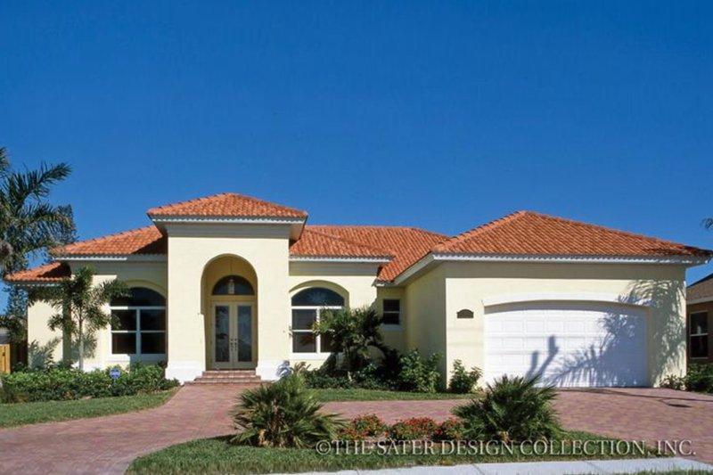 Mediterranean Exterior - Front Elevation Plan #930-373
