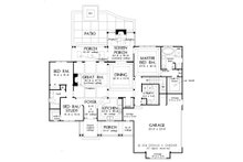 Ranch Floor Plan - Main Floor Plan Plan #929-1024