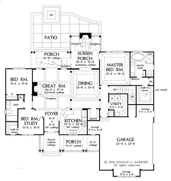 Ranch Floor Plan - Main Floor Plan Plan #929-1024