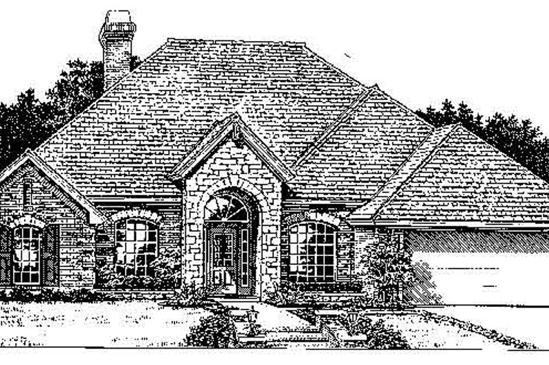House Plan - 4 Beds 2.5 Baths 2321 Sq/Ft Plan #310-734 Exterior - Front Elevation