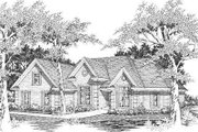 European Style House Plan - 6 Beds 3 Baths 2743 Sq/Ft Plan #329-266 Exterior - Front Elevation