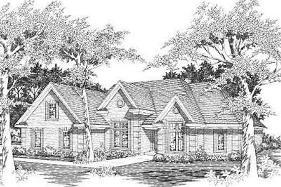 European Exterior - Front Elevation Plan #329-266