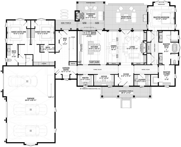 Farmhouse Floor Plan - Main Floor Plan Plan #928-325