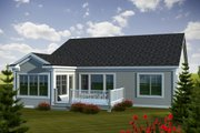 Traditional Style House Plan - 2 Beds 1.75 Baths 1662 Sq/Ft Plan #70-1110 Exterior - Rear Elevation