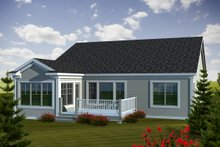 Dream House Plan - Traditional Exterior - Rear Elevation Plan #70-1110