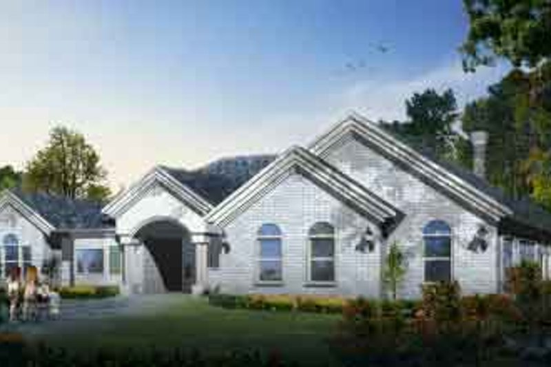 Traditional Style House Plan - 4 Beds 3 Baths 3300 Sq/Ft Plan #1-1215 Exterior - Front Elevation
