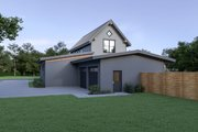 Contemporary Style House Plan - 3 Beds 2.5 Baths 1954 Sq/Ft Plan #1070-80 Exterior - Rear Elevation