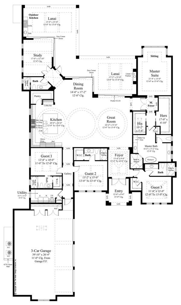 House Plan Design - Contemporary Floor Plan - Main Floor Plan #930-477
