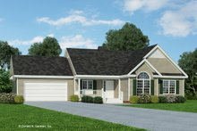 Architectural House Design - Country Exterior - Front Elevation Plan #929-238