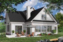 Farmhouse Exterior - Rear Elevation Plan #23-230
