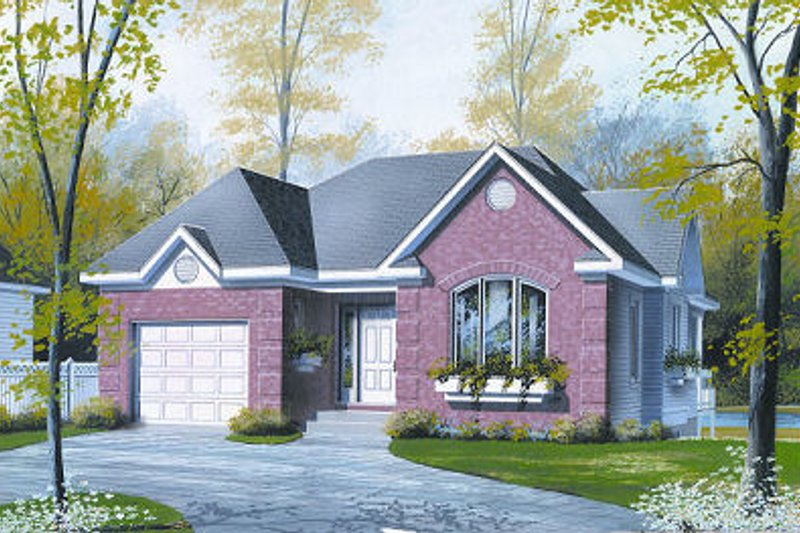 Cottage Exterior - Front Elevation Plan #23-697