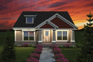 Craftsman Exterior - Front Elevation Plan #70-1075